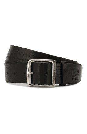 Мужской кожаный ремень DSQUARED2 черного цвета, арт. BEM0250 74100001 | Фото 1