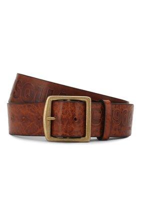 Мужской кожаный ремень DSQUARED2 коричневого цвета, арт. BEM0250 74100001 | Фото 1