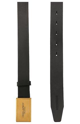 Мужской кожаный ремень DSQUARED2 черного цвета, арт. BEM0244 12900001 | Фото 2
