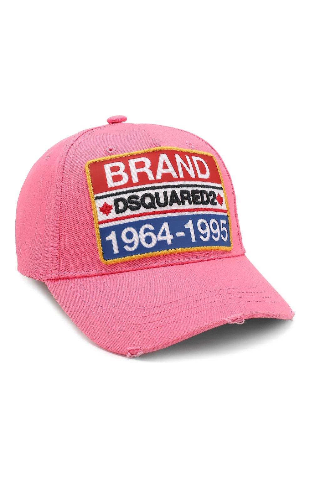 Мужской хлопковая бейсболка DSQUARED2 розового цвета, арт. BCM0307 05C00001 | Фото 1