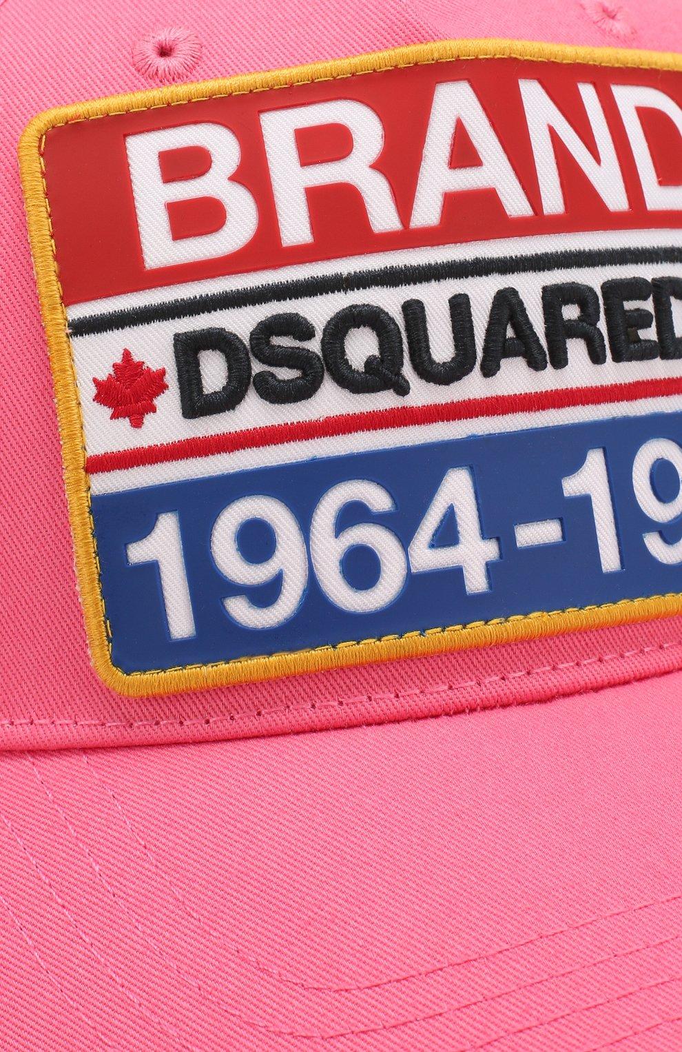 Мужской хлопковая бейсболка DSQUARED2 розового цвета, арт. BCM0307 05C00001 | Фото 3