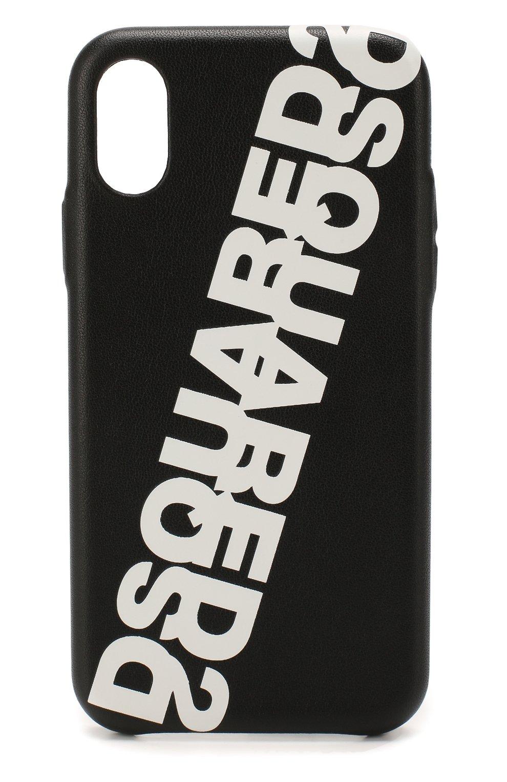 Мужской чехол для iphone x/xs DSQUARED2 черного цвета, арт. ITM0074 01501675 | Фото 1