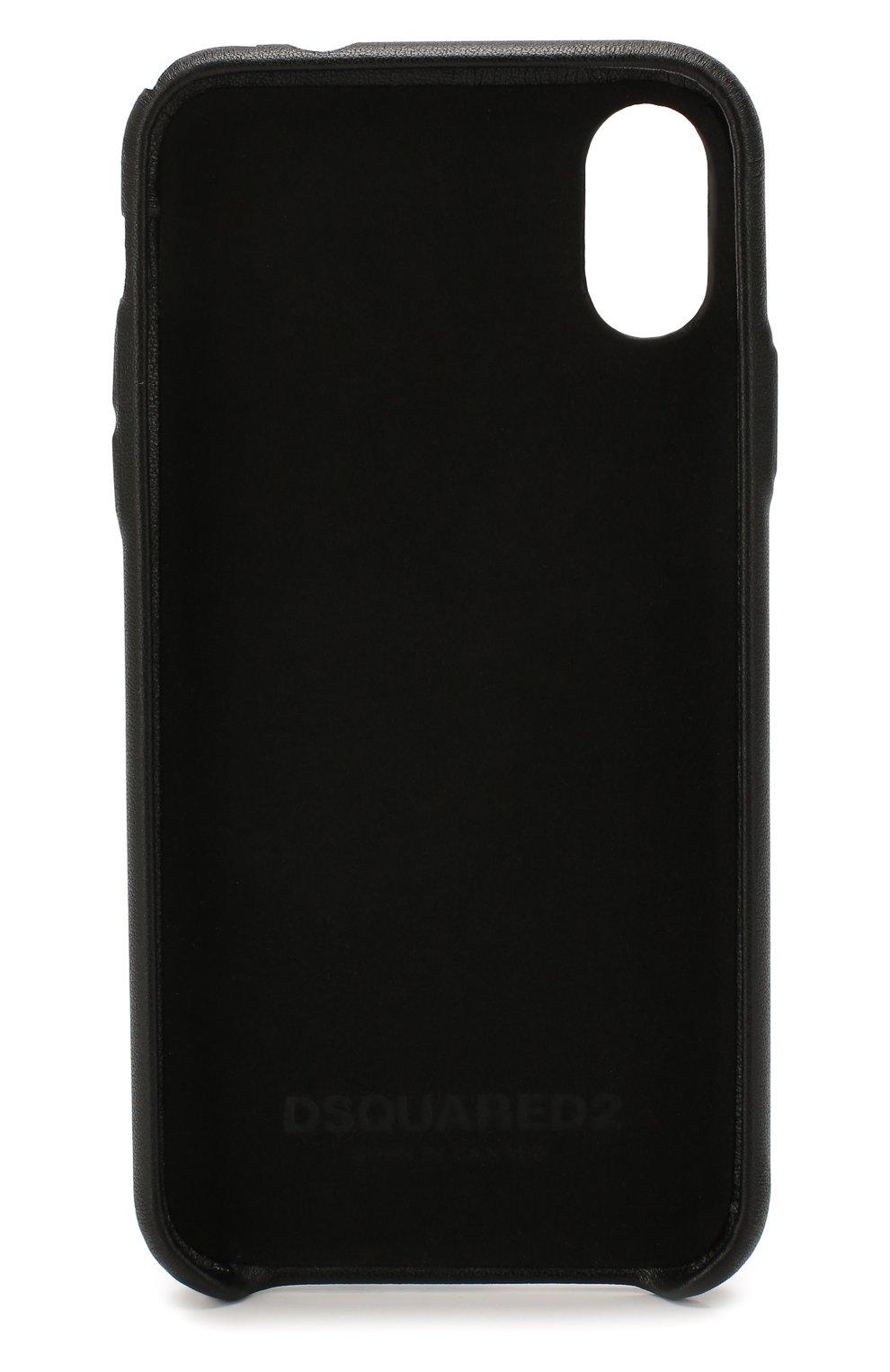 Мужской чехол для iphone x/xs DSQUARED2 черного цвета, арт. ITM0074 01501675 | Фото 2