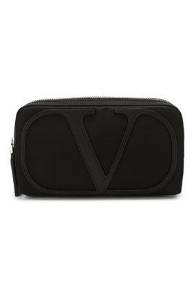Мужская текстильная поясная сумка valentino garavani vlogo VALENTINO черного цвета, арт. TY2B0881/MLI | Фото 1