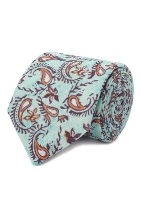 Мужской льняной галстук ETON голубого цвета, арт. A000 32268 | Фото 1