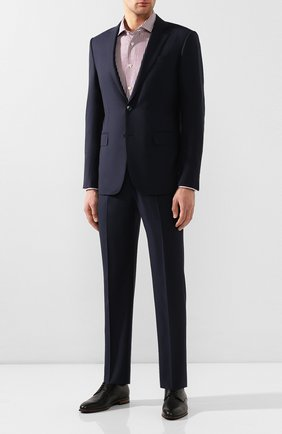 Мужская сорочка из смеси хлопка и льна KITON бордового цвета, арт. UCIH0660936 | Фото 2