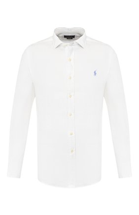 Мужская льняная рубашка POLO RALPH LAUREN белого цвета, арт. 710795426   Фото 1
