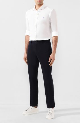 Мужская льняная рубашка POLO RALPH LAUREN белого цвета, арт. 710795426   Фото 2
