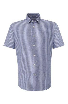 Мужская рубашка из смеси хлопка и льна VAN LAACK темно-синего цвета, арт. LET0N1-S-SFW/151475 | Фото 1