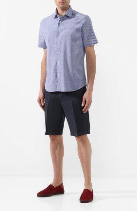 Мужская рубашка из смеси хлопка и льна VAN LAACK темно-синего цвета, арт. LET0N1-S-SFW/151475 | Фото 2