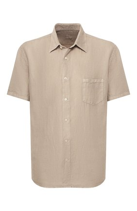 Мужская льняная рубашка 120% LINO бежевого цвета, арт. R0M1368/0115/000 | Фото 1