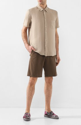 Мужская льняная рубашка 120% LINO бежевого цвета, арт. R0M1368/0115/000 | Фото 2