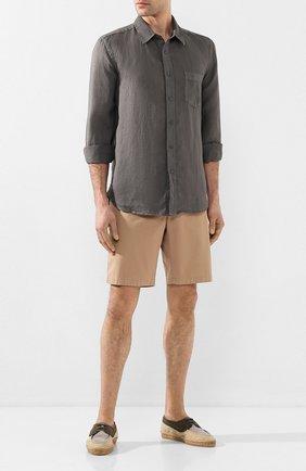 Мужская льняная рубашка 120% LINO серого цвета, арт. R0M1425/0115/S00 | Фото 2