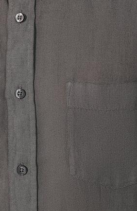 Мужская льняная рубашка 120% LINO серого цвета, арт. R0M1425/0115/S00 | Фото 5