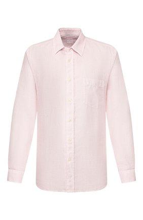 Мужская льняная рубашка 120% LINO светло-розового цвета, арт. R0M1425/0115/S00 | Фото 1