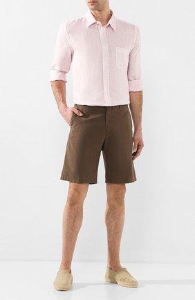 Мужская льняная рубашка 120% LINO светло-розового цвета, арт. R0M1425/0115/S00 | Фото 2