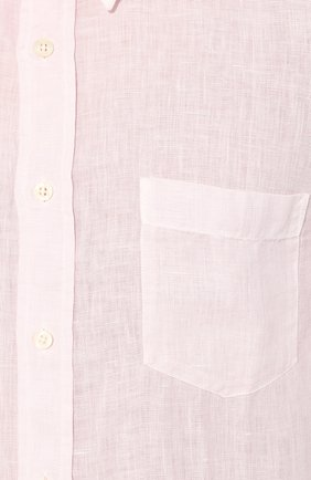 Мужская льняная рубашка 120% LINO светло-розового цвета, арт. R0M1425/0115/S00   Фото 5