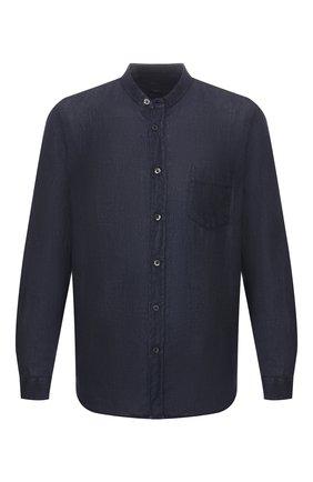 Мужская льняная рубашка 120% LINO темно-синего цвета, арт. R0M1532/0115/000 | Фото 1