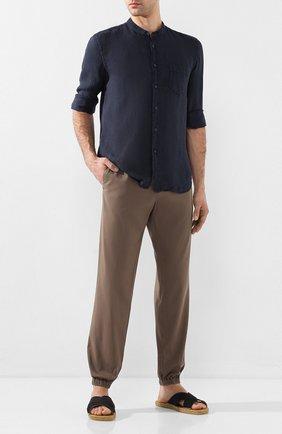 Мужская льняная рубашка 120% LINO темно-синего цвета, арт. R0M1532/0115/000 | Фото 2