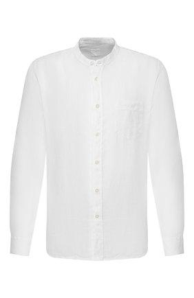 Мужская льняная рубашка 120% LINO белого цвета, арт. R0M1532/0115/000 | Фото 1