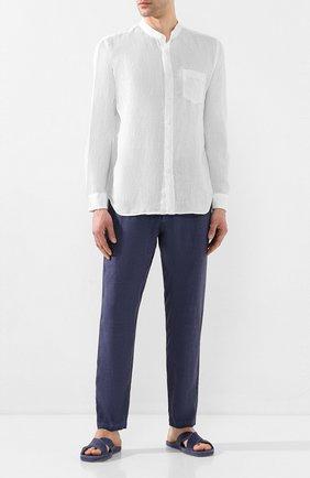 Мужская льняная рубашка 120% LINO белого цвета, арт. R0M1532/0115/000 | Фото 2