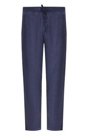 Мужские льняные брюки 120% LINO темно-синего цвета, арт. R0M2131/0253/S00 | Фото 1