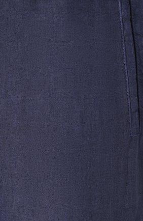 Мужские льняные брюки 120% LINO темно-синего цвета, арт. R0M2131/0253/S00 | Фото 5