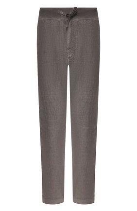 Мужской льняные брюки 120% LINO серого цвета, арт. R0M2131/0253/S00 | Фото 1