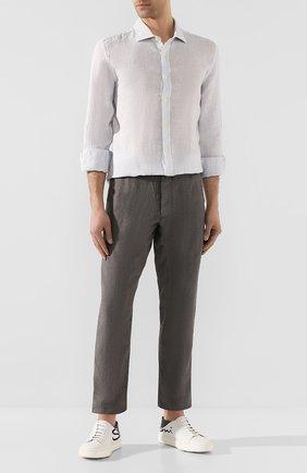 Мужской льняные брюки 120% LINO серого цвета, арт. R0M2131/0253/S00 | Фото 2