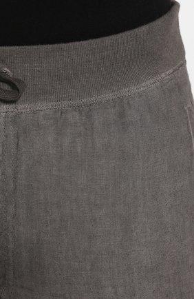 Мужские льняные брюки 120% LINO серого цвета, арт. R0M2131/0253/S00   Фото 5