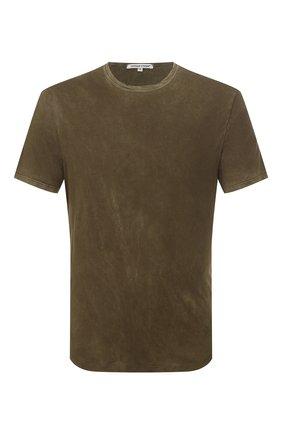Мужская хлопковая футболка COTTON CITIZEN хаки цвета, арт. M60011 | Фото 1