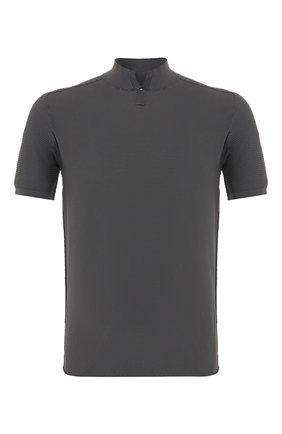 Мужское хлопковое поло TRANSIT темно-серого цвета, арт. CFUTRK7422   Фото 1