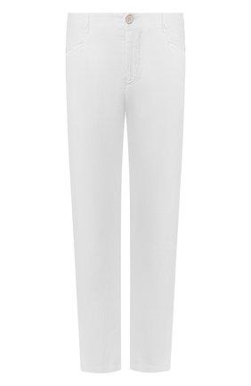 Мужской льняные брюки TRANSIT белого цвета, арт. CFUTRKD131   Фото 1