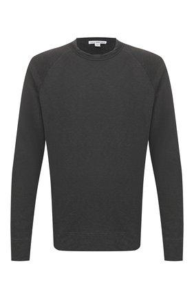 Мужской хлопковый свитшот JAMES PERSE темно-серого цвета, арт. MXA3278 | Фото 1