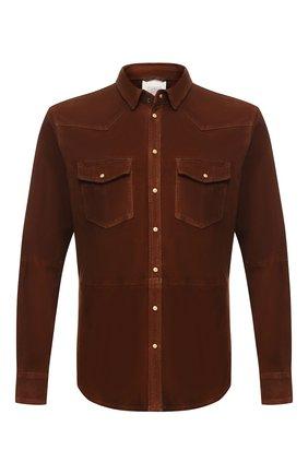 Мужская замшевая рубашка ELEVENTY коричневого цвета, арт. 979PL0150 PEL26008 | Фото 1
