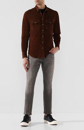 Мужская замшевая рубашка ELEVENTY коричневого цвета, арт. 979PL0150 PEL26008 | Фото 2
