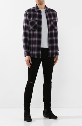 Рубашка из смеси хлопка и вискозы   Фото №2
