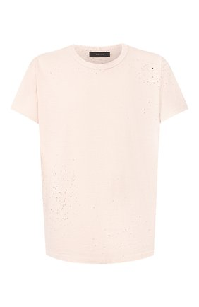 Мужская хлопковая футболка AMIRI светло-розового цвета, арт. Y0M03349CJ | Фото 1