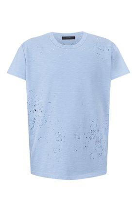 Мужская хлопковая футболка AMIRI голубого цвета, арт. Y0M03349CJ | Фото 1