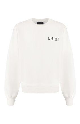 Мужской хлопковый свитшот AMIRI белого цвета, арт. Y0M02433TE | Фото 1