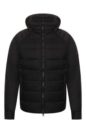Мужская пуховая куртка hybridge base CANADA GOOSE черного цвета, арт. 2729M | Фото 1