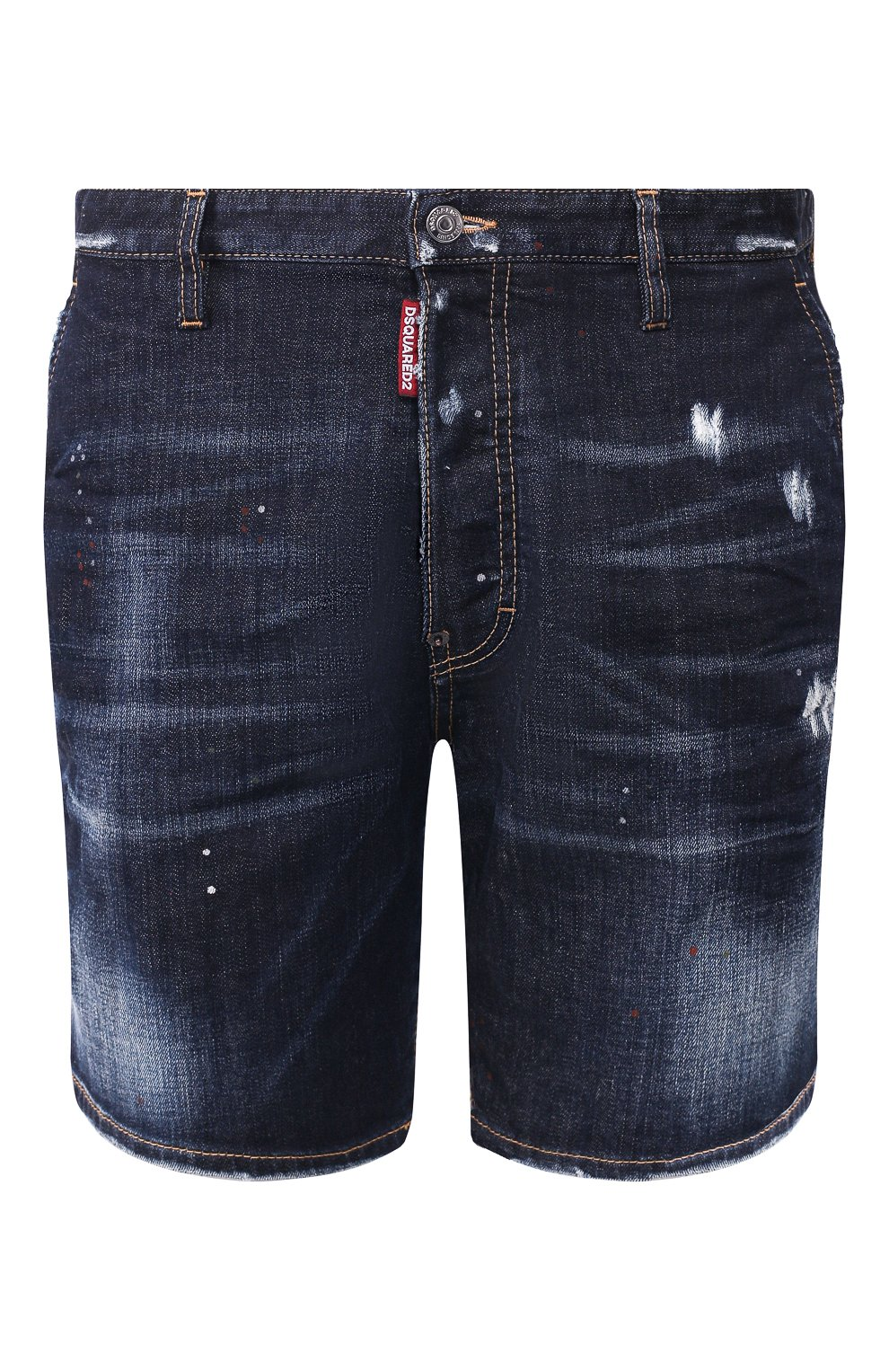 Мужские джинсовые шорты DSQUARED2 темно-синего цвета, арт. S74MU0576/S30664   Фото 1