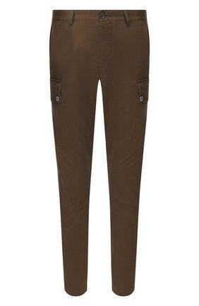 Мужские хлопковые брюки-карго DSQUARED2 хаки цвета, арт. S74KB0385/S41794 | Фото 1 (Материал внешний: Хлопок; Силуэт М (брюки): Карго; Случай: Повседневный; Стили: Кэжуэл)