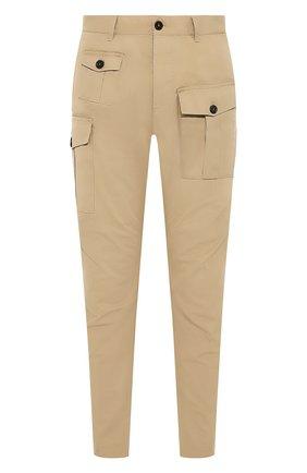 Мужской хлопковые брюки DSQUARED2 бежевого цвета, арт. S74KB0382/S41794 | Фото 1