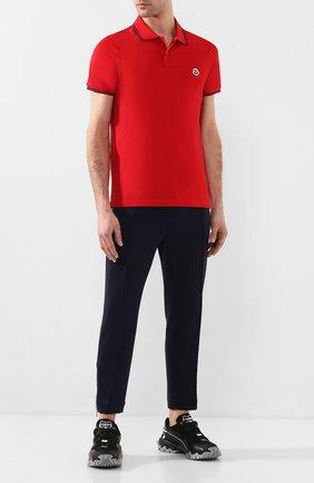 Мужское хлопковое поло MONCLER красного цвета, арт. F1-091-8A706-00-84556 | Фото 2