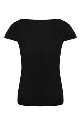Женская топ из смеси шерсти и шелка GIORGIO ARMANI черного цвета, арт. 3HAMA5/AMB2Z | Фото 1