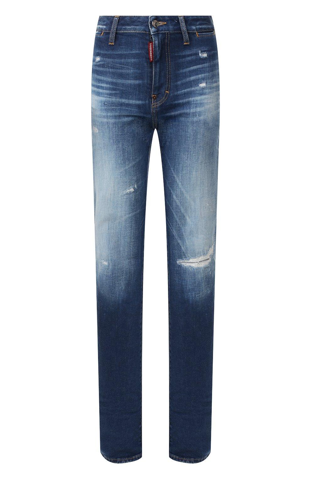 Женские джинсы DSQUARED2 синего цвета, арт. S75LB0314/S30663 | Фото 1