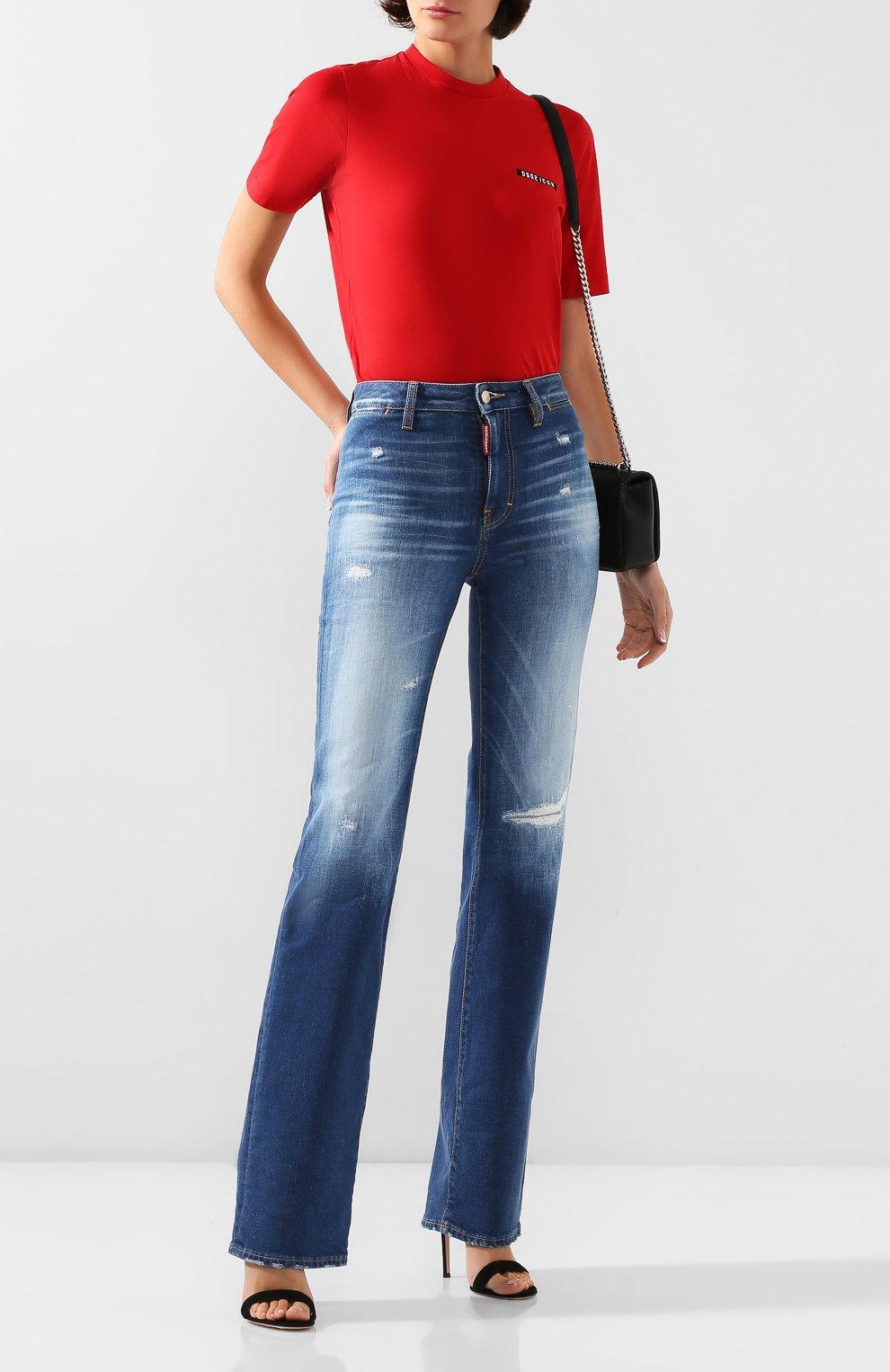 Женские джинсы DSQUARED2 синего цвета, арт. S75LB0314/S30663 | Фото 2