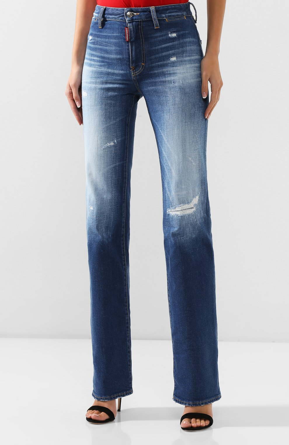 Женские джинсы DSQUARED2 синего цвета, арт. S75LB0314/S30663 | Фото 3