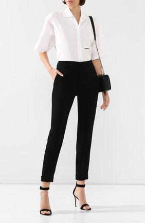 Женские брюки из вискозы DSQUARED2 черного цвета, арт. S75KB0099/S48427 | Фото 2